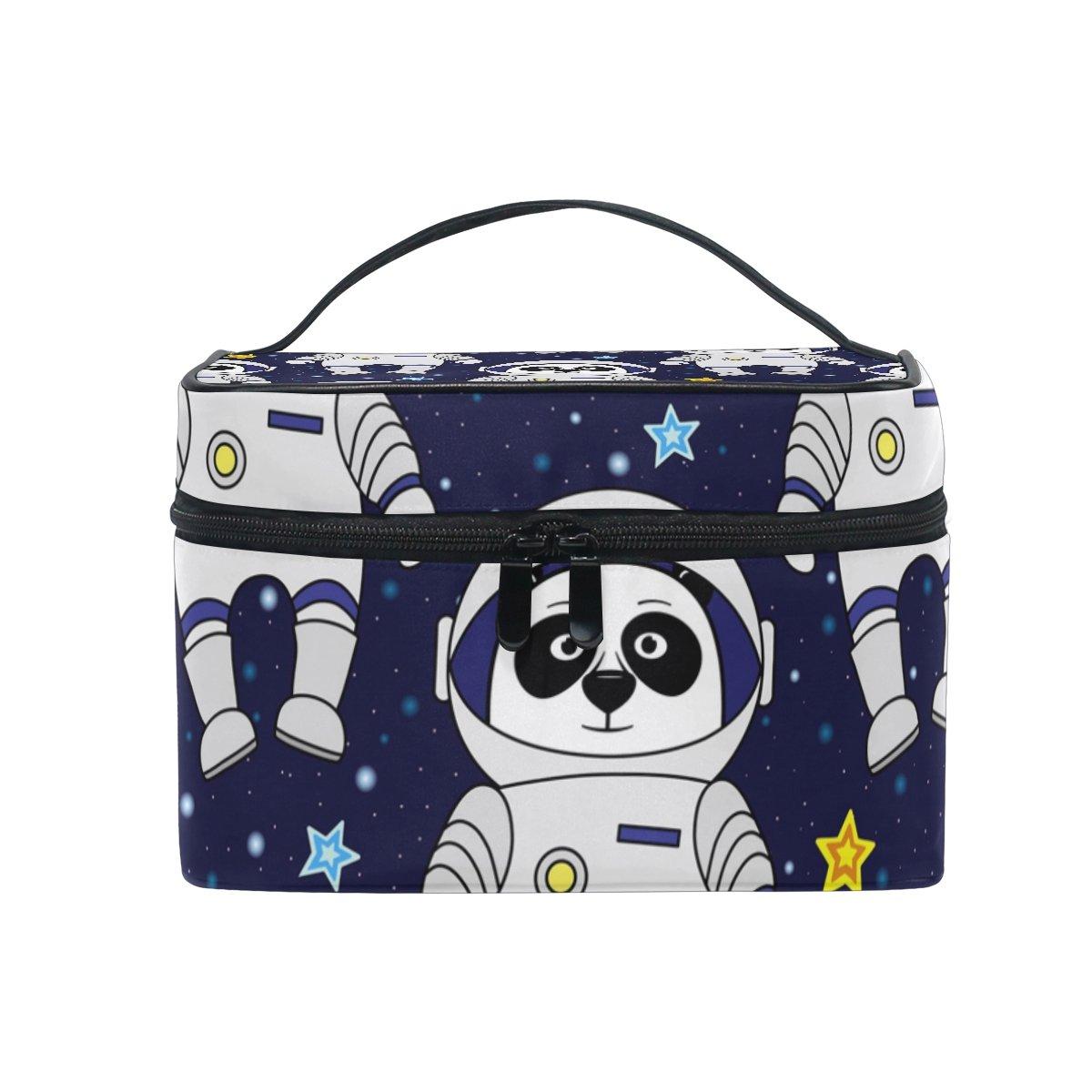 520bd87891b3 Amazon.com : SAVSV Travel Makeup Bags Panda Astronaut Stars In Space ...