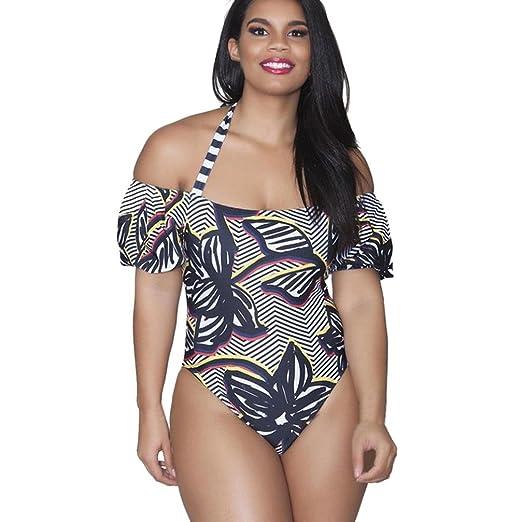 66a3ef6add7 2018 New Lady Plus Size One Piece Halter Push up Monokini Bikini Swimwear 1  Piece Swimsuit