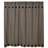 Heart of America Black Star Shower Curtain 72''