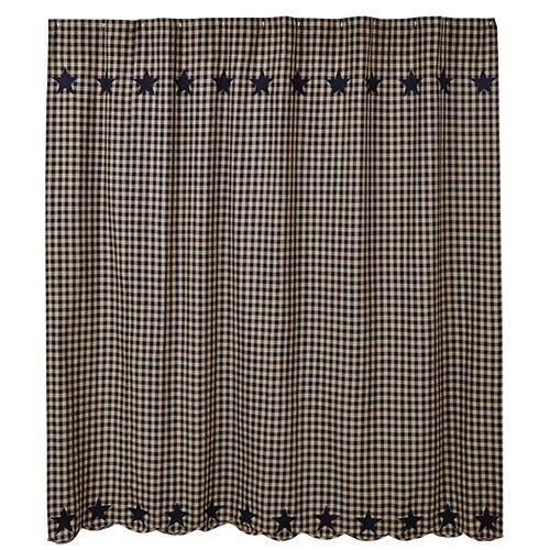 Heart of America Black Star Shower Curtain 72''