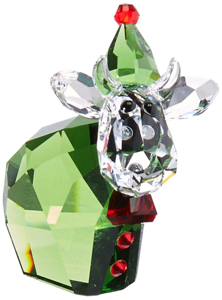 Swarovski Weihnachtself Mo Figur, Kristall, Mehrfarbig, 4.9 x 2.5 x 4.4 cm