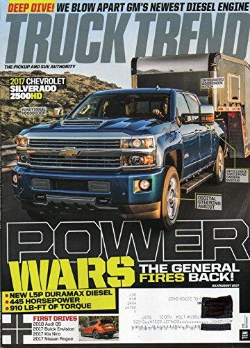 Circle Track Magazine (Truck Trend Magazine 2017 CHEVROLET SILVERADO 2500HD First Drive 2018 Audi Q5 POWER WARS THE GENERAL FIRES BACK New L5P Duramax Diesel BUICK ENVISION)