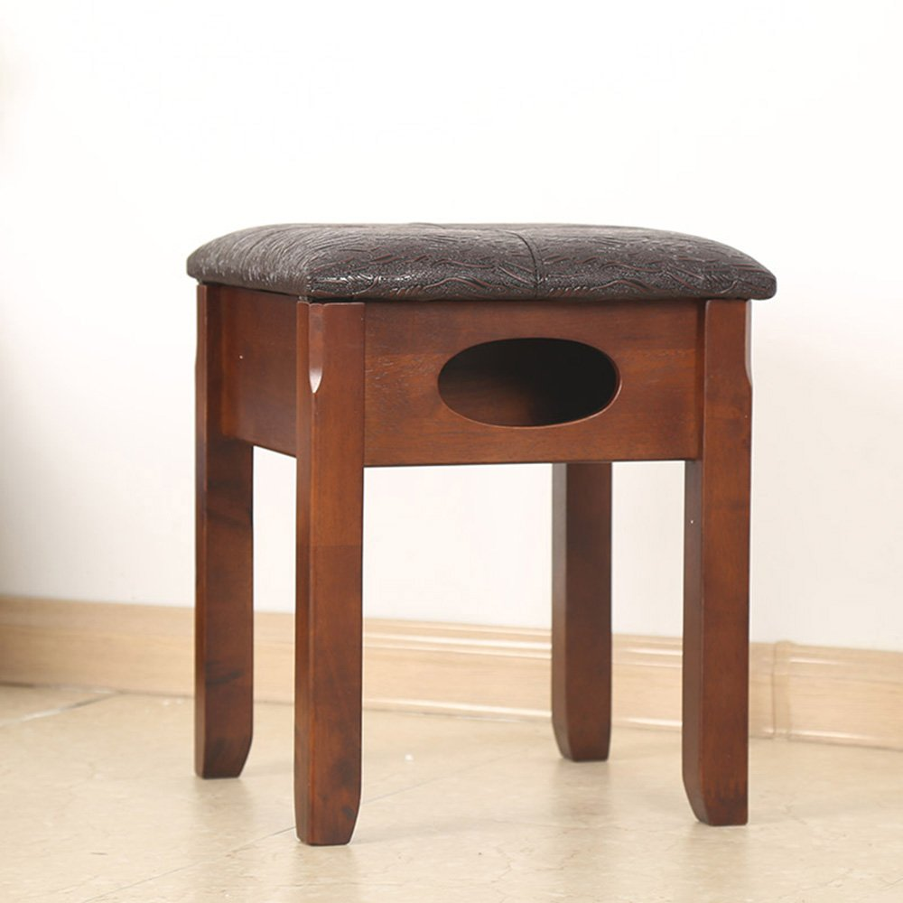 B MEIDUO Chairs Dressing Stool Cushion Padded Wood Chair 36 x 36 x 44 cm (W x L x H) (color   D)