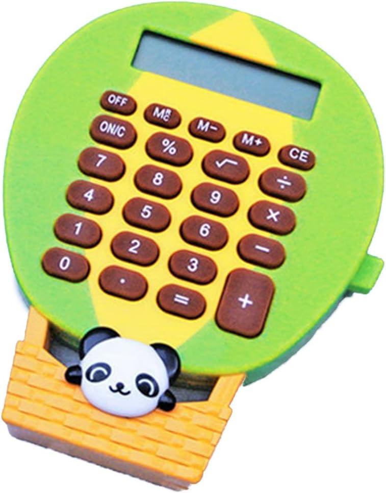 DCMA 文房具 トイ 電卓 キー ホルダー 動物 アニマル 計算機 コンパクト 手のひらサイズ 1点 柄色お楽しみ