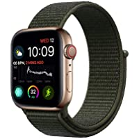 Haotop Replacement Bands Compatible with Apple Watch, Woven Nylon Sport Loop Band Wristband Replacement Bracelet for iWatch Straps Series 4/3/2/1 (38MM/40MM, Cargo Khaki)