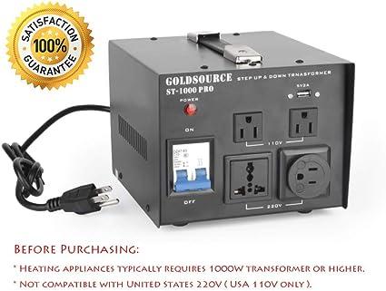 500W Watt Voltage Transformer Auto Step Up Down Converter Heavy Duty Use New B2