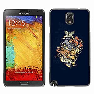 Planetar® ( You Win Or You Die Animal Dragon Crest ) Fundas Cover Cubre Hard Case Cover Samsung Galaxy Note 3 III / N9000 / N9005