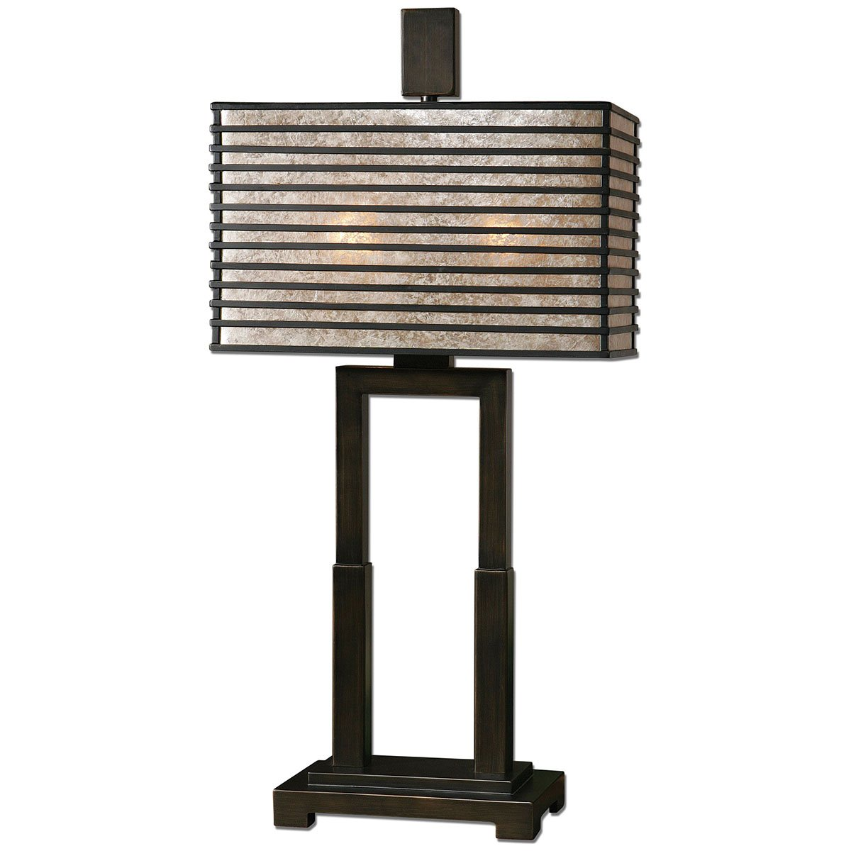 Amazon Com Uttermost 26291 1 Becton Modern Metal Table Lamp Bronze
