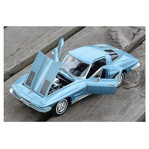 HURONG168 Coches Vehículos Juguetes Chevrolet 1:24 Corvette Stingray Bumblebee simulación estática de aleación Modelo de Coche Regalo colección de Modelos ...