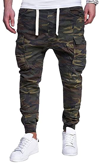 182c9d40bcaef Jotebriyo Mens Plus Size Camo Jogger Pants Drawstring Vogue Sweatpants  Pants Trousers at Amazon Men's Clothing store: