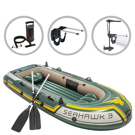 vidaXL Intex Barca Inflable Seahawk 3 con Motor de Arrastre y ...