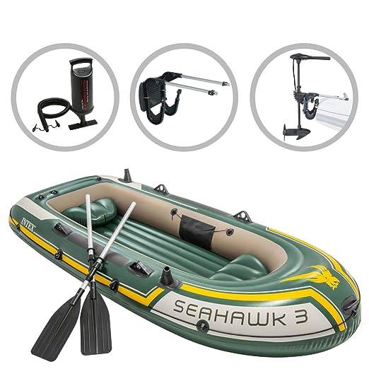 ACCEWIT Intex Seahawk 3 - Barcas hinchables con Motor y Soporte ...