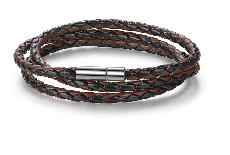 Wit&Puk JY-Gems Leather Bracelet for Men Womens