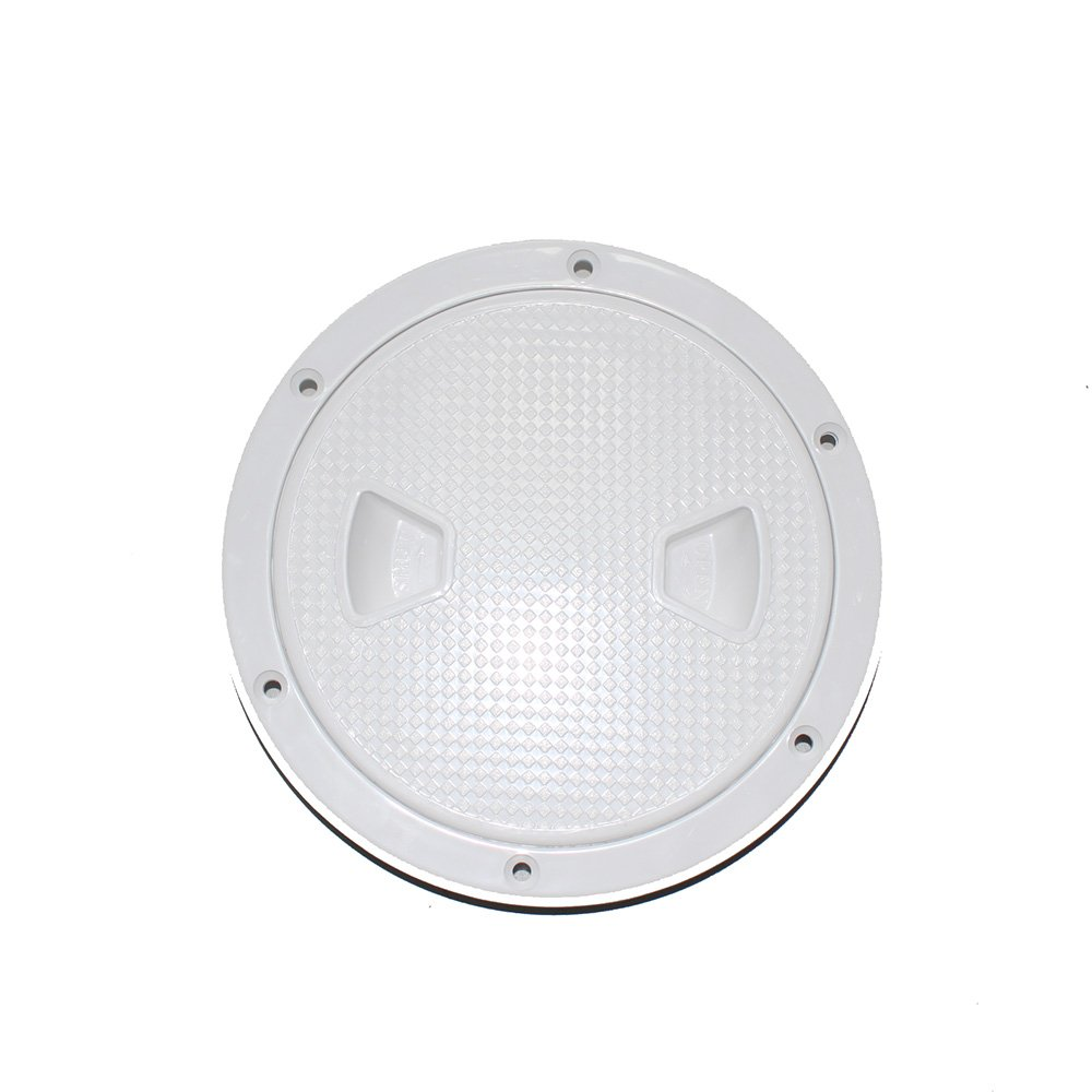 X-Haibei Round Boat Marine Inspection Hatch Deck Plate Access RV Plastic White (Dia. 6inch) by X-Haibei