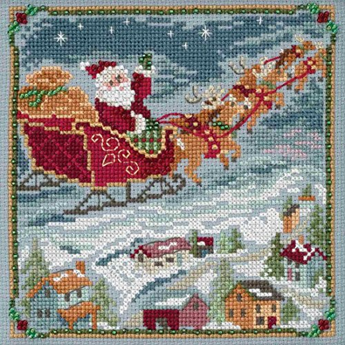 To All a Goodnight Beaded Counted Cross Stitch Kit Mill Hill 2018 A Visit From St Nick Quartet Series -
