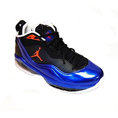 Nike Air Jordan Melo M8 New York Knicks Mens Basketball Shoes Black Orange  Flash- 53aa31fa2