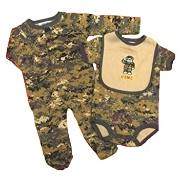 Amazon.com: USMC de bebé 3 pc de bosque camuflaje Set de ...