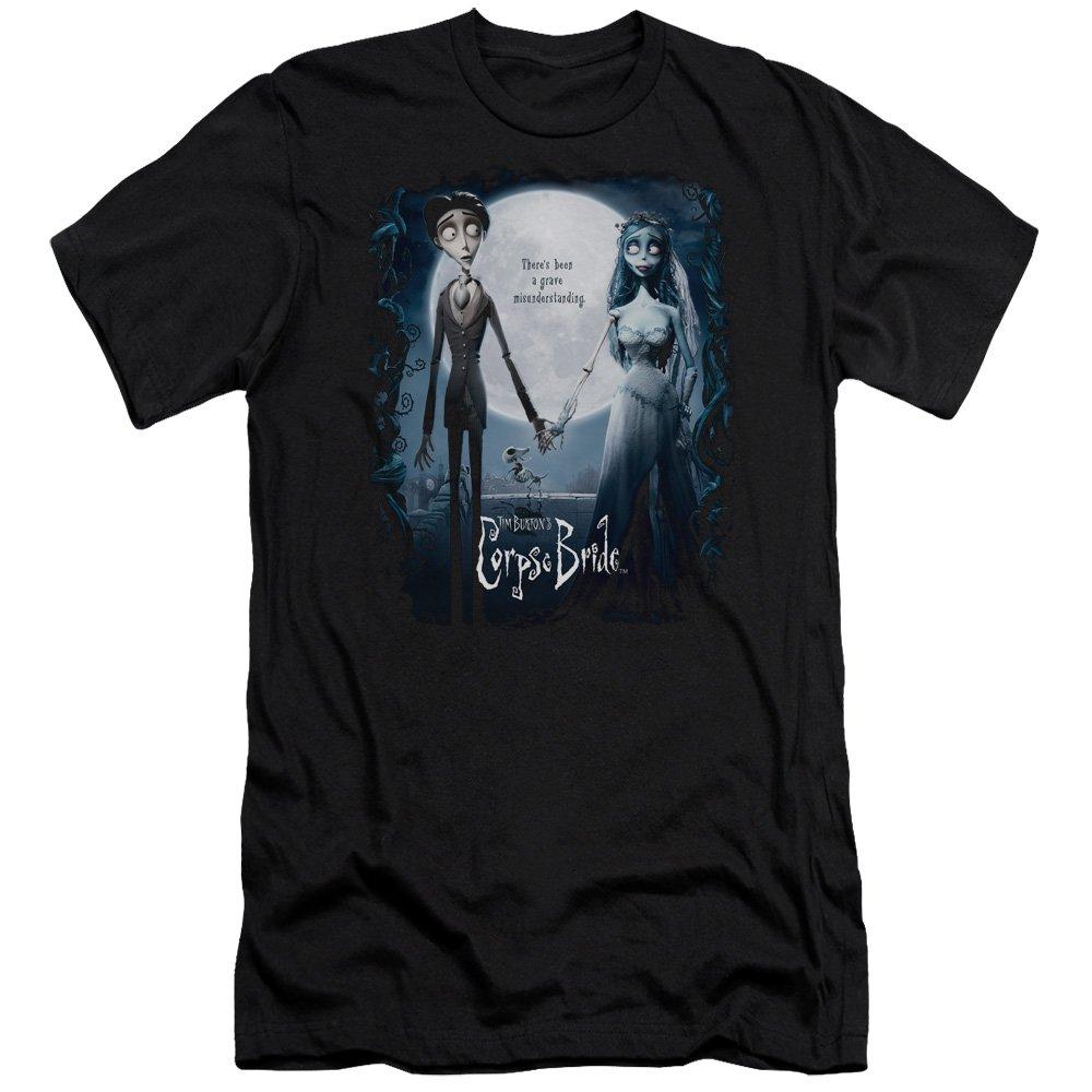 Corpse Bride Animated Romance Movie Burton Poster Adult T Shirt Tee 8416