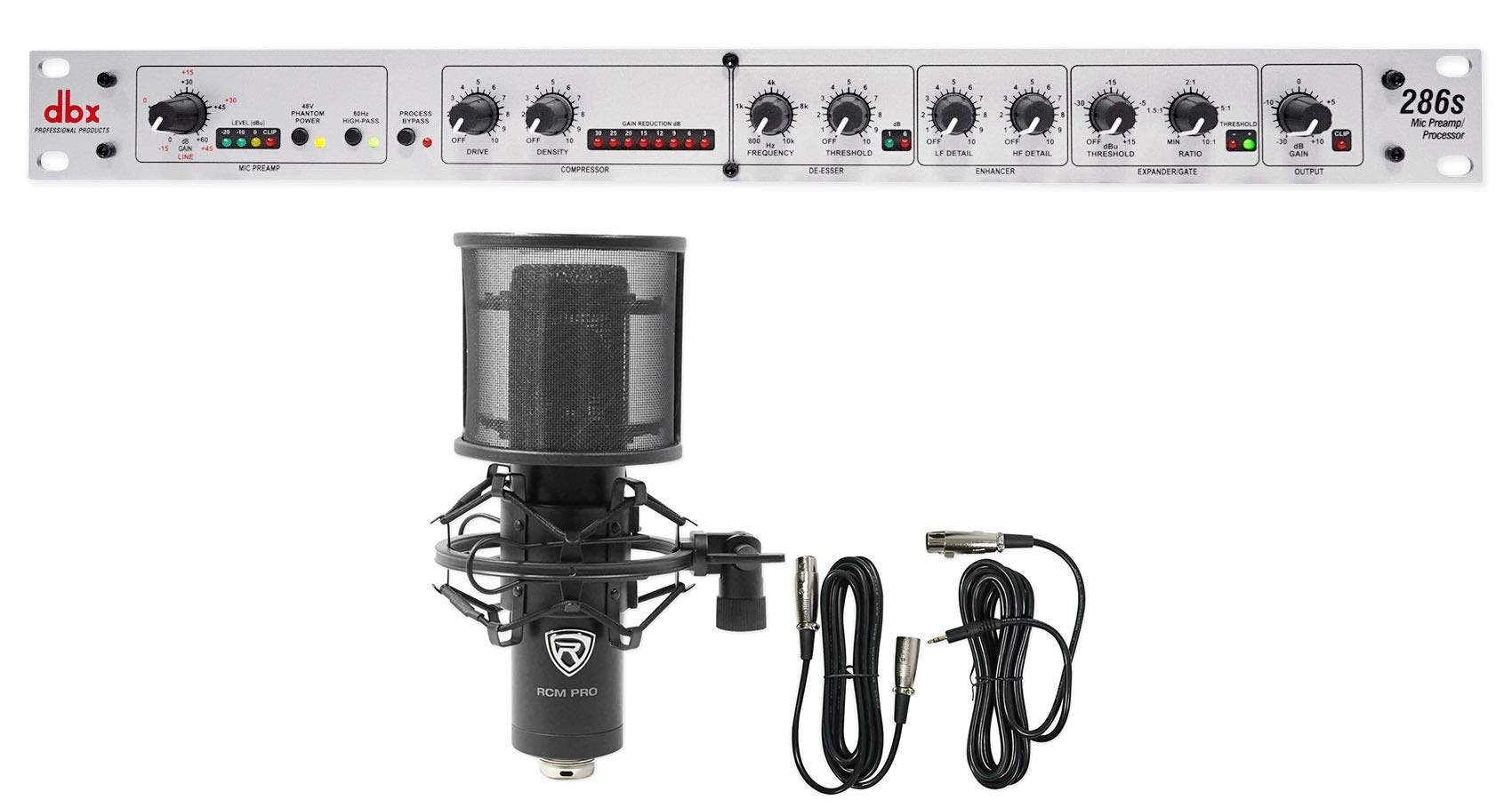 DBX 286S Microphone Mic Pre-Amp Processor 286 S, Phantom Power+Condenser Mic