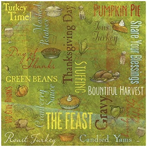 KAREN FOSTER Design Scrapbooking Paper, 25 Sheets, Day of Thanks Collage, 12 x 12 ()