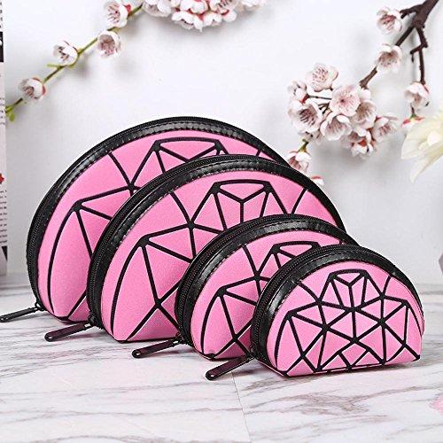 Aoligei 0 portefeuilles, quatre pièces, moitié un gommage de Dame du demi-cercle, cube Diamond Japonais-style sac à main A