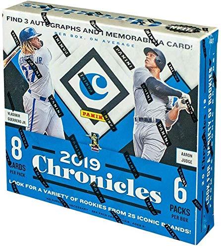 2019 Panini Chronicles Hobby Baseball Box (3 Autos & 1 Mem.) from Panini