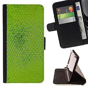 For Samsung Galaxy S6 Case , Escalas modelo planta verde de la naturaleza- la tarjeta de Crédito Slots PU Funda de cuero Monedero caso cubierta de piel