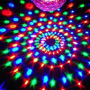 KLAREN 6 LED Color Changing Disco Dj Stage Lighting LED RGB Crystal Magic Ball Effect Light DMX Light KTV Party