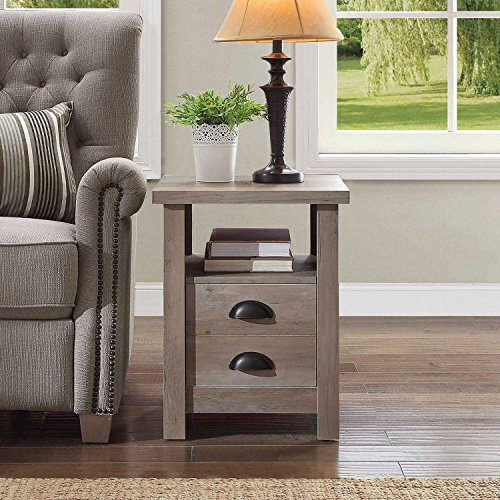 Simple Yet Stylish Sturdy End Table (1, Rustic Gray)