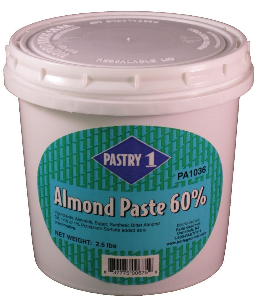 Pastry 1 Blanched Almond Paste 60%, 2.5 Lbs