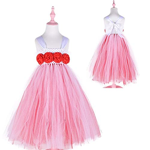 27cb3ab25 Amazon.com: Red and White Girls Christmas Party Tutu Dress Baby Holiday  Gifts Princess Tulle Tutu Dress Evening Ball Gown: Handmade