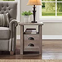 Simple yet Stylish Sturdy End Table, Rustic Gray