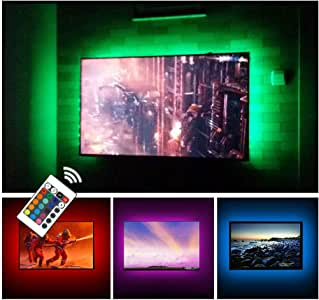 """USB TV Backlight LED Bias Lighting Kit For 24"""" to 60 Inch Smart TV Monitor HDTV Wall Mount Stand Work Space - TV Background Ambient Mood Lighting Decor"""
