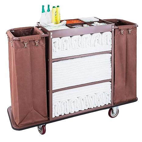 Carros de limpieza DIOE Carrito de Limpieza, 3 estantes, 2 ...