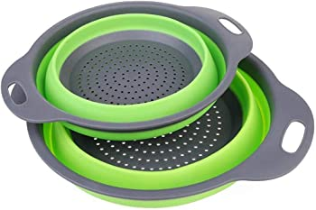 Lioder Collapsible Strainer Colander Folding Kitchen Vegetable Basket