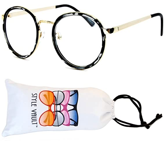 Amazon.com: e417-vp Ronda Moda Retro Cateye Panto anteojos ...