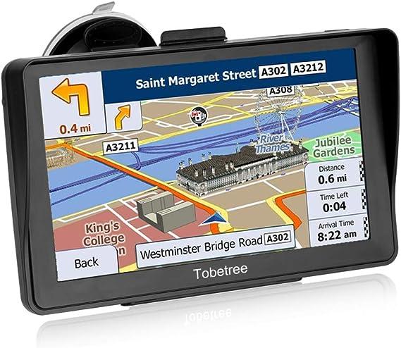 Tobetree DH798 - GPS Coches, 7 Pulgadas Parasol Navegador GPS para Coche, con Bluetooth, Gratis Mapa de Europa Toda la Vida, Recordatorio Voz Inteligente: Amazon.es: Electrónica