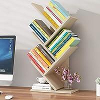 Student Bookshelf Storage Rack Bookshelf Tree Display Cabinet Office Bookcase Sturdy and Durable, Cherry Maple