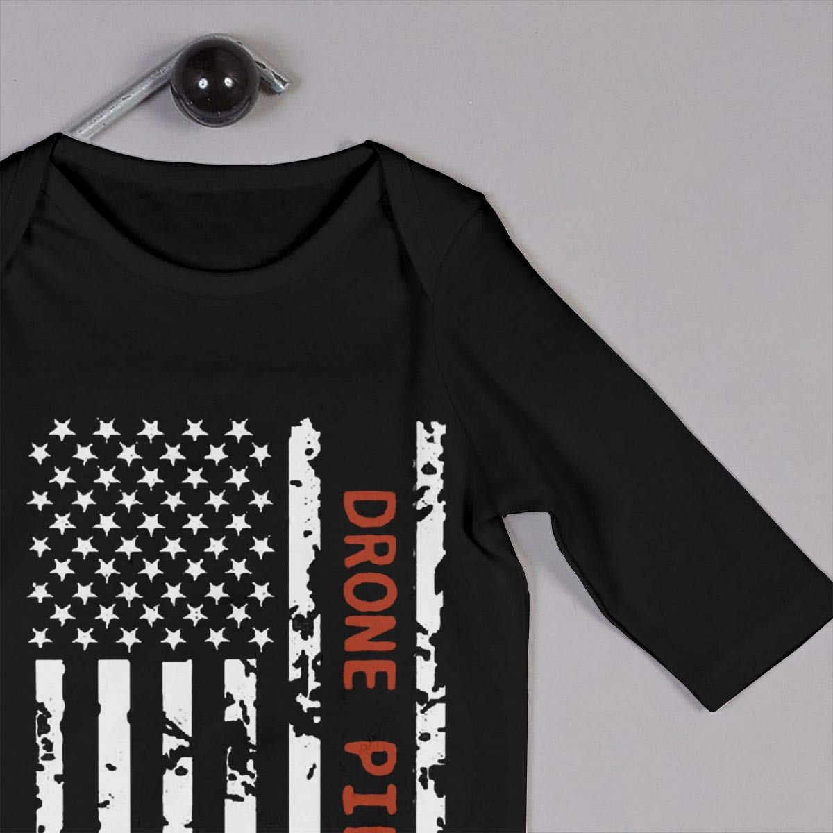 Drone Pilot USA Flag Newborn Baby Boy Girl Romper Jumpsuit Long Sleeve Bodysuit Overalls Outfits Clothes