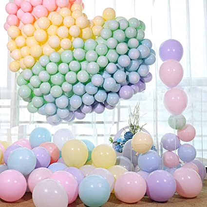 100pcs Pastel Latex Balloons 10 Inches Assorted Macaron Candy Colored Party For Wedding Graduation