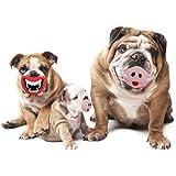 Ducomi® Muso - Gioco per Cane in Gomma Naturale - Cambia l'Espressione del tuo Cucciolo (Pig + Dracula)