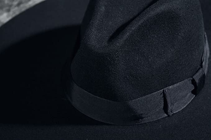 4f655e4dda935 ByTheR Unisex Modern Chic Classic Style Floppy Wide Brim Fedora Hat Black  at Amazon Men s Clothing store