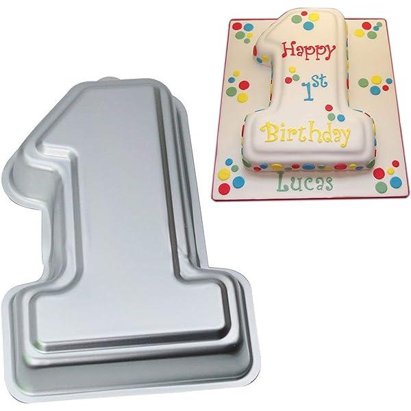 Pleasant Wilton First Birthday Cake Pan Kids 3D Number One Cake Pan Birthday Cards Printable Inklcafe Filternl