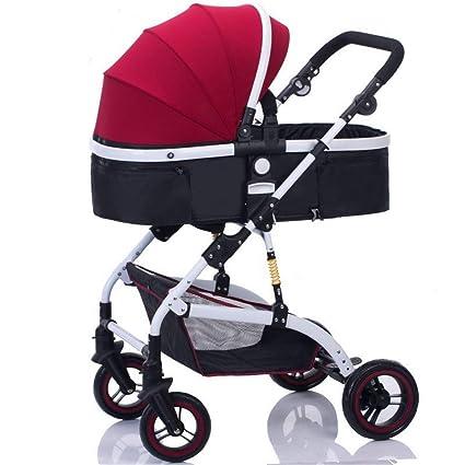 BABYWEYDYT carro de bebe El cochecito horizontal puede sentarse y ...