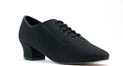 6408dd690e52 Ladies Line Dance Classic Black Lurex Ballroom Shoes By Topline All Sizes  Katz Dancewear (Ladies