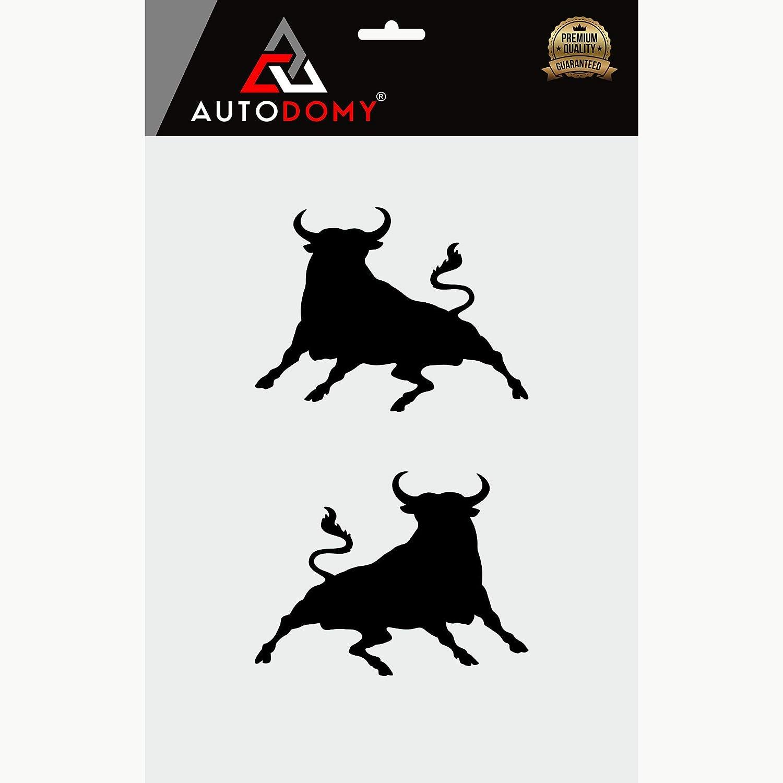 Autodomy Pegatinas Toro Saltando Toro Español Pack 2 Unidades para Coche o Moto (Negro): Amazon.es: Coche y moto