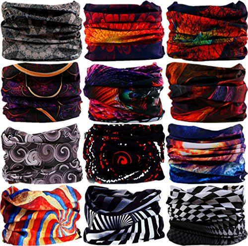 43d52854c21 VANCROWN Headband Head Wrap Headwear Sport Sweatband 280 Patterns 12 in 1 Magic  Scarf 12PCS 9PCS ...