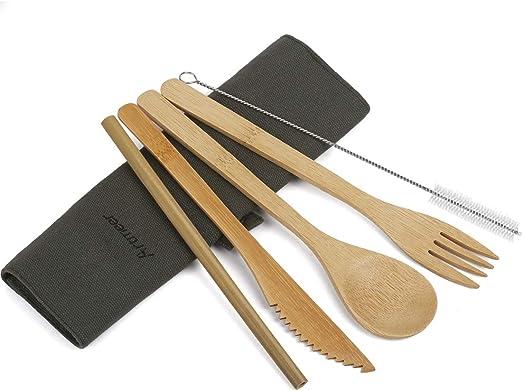 Amazon.com: Set de utensilios de viaje para servir cubiertos ...