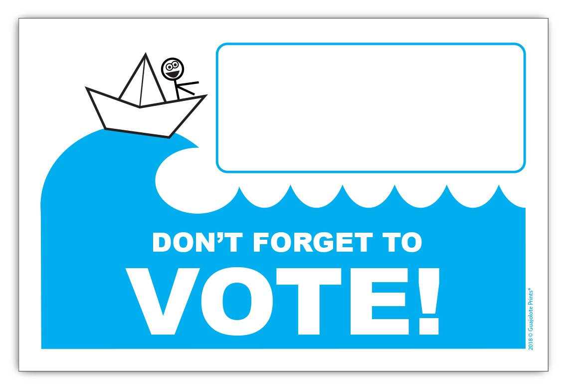 Postcards to Voters - Funny Political Democrats Blue Wave 4x6 inches, 50 Count