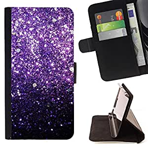 Jordan Colourful Shop - glitter purple shiny dark bling For Apple Iphone 4 / 4S - Leather Case Absorci???¡¯???€????€????????&ce
